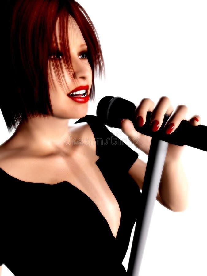 Frauen-Gesang lizenzfreie stockfotos