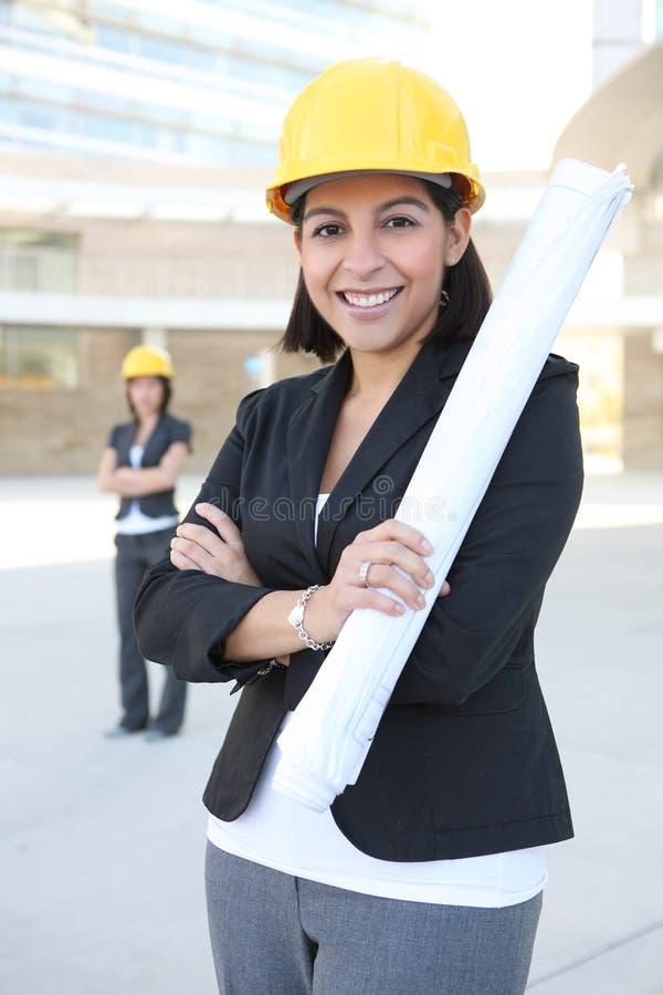 Frauen-Geschäfts-Architekten stockbilder