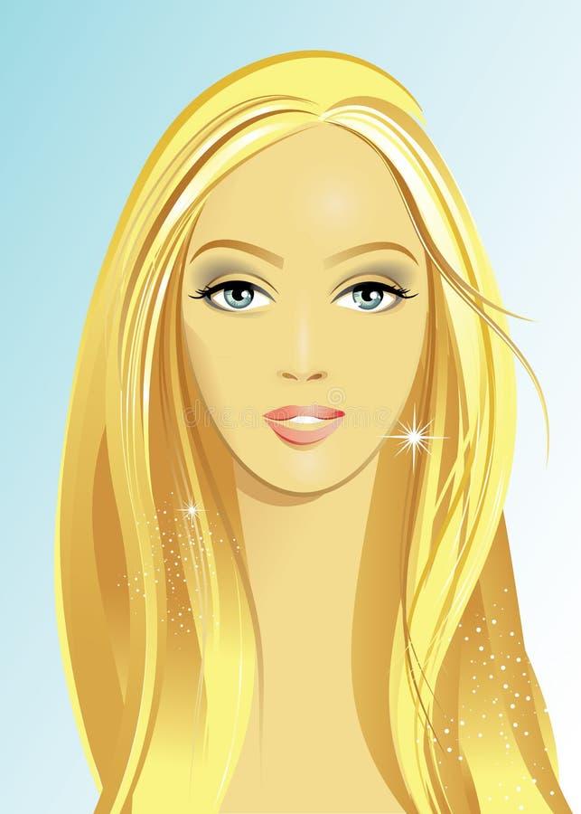 Frauen-Gesicht vektor abbildung