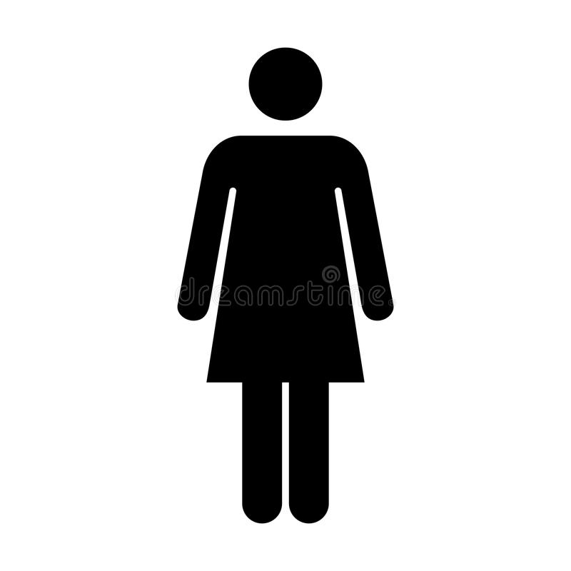 Frauen-Ikonen-Vektor-Person Symbol Pictogram-Illustration lizenzfreie abbildung