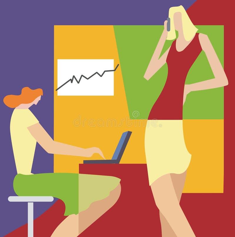 Frauen im Büro stock abbildung