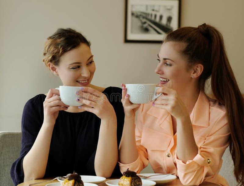 Frauen im Café lizenzfreies stockbild