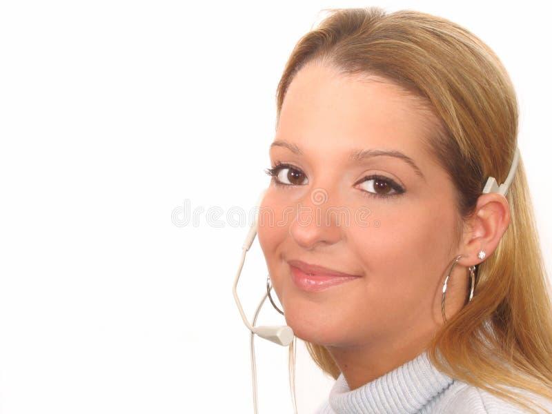 Frauen-Kundendienst stockfoto