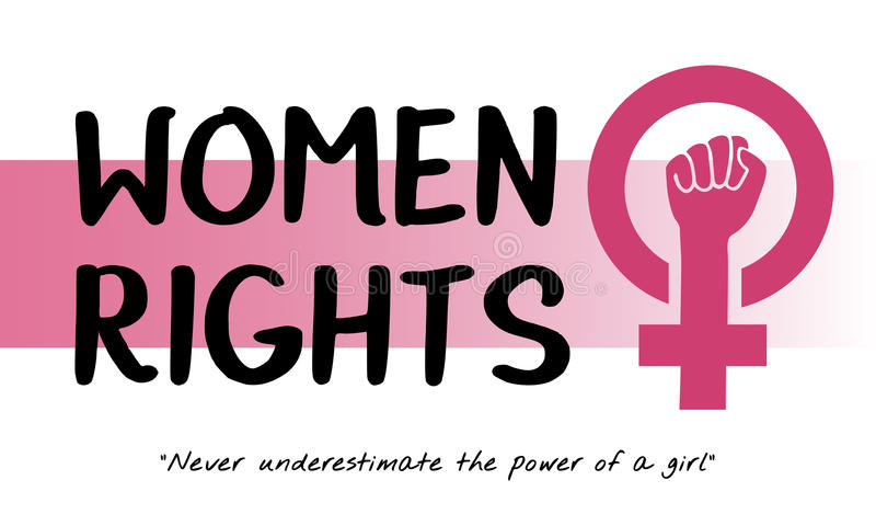 Frauen-Mädchen-Energie-Feminismus-Chancengleichheits-Konzept vektor abbildung