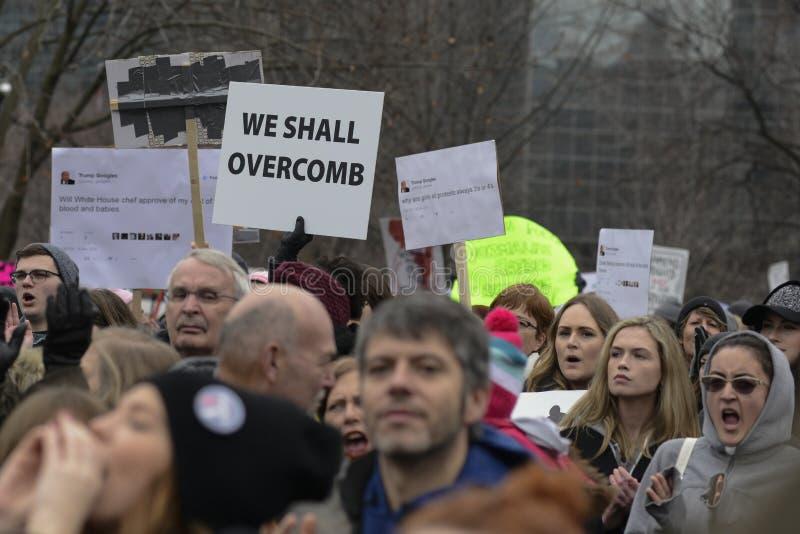Frauen März in Toronto lizenzfreies stockbild