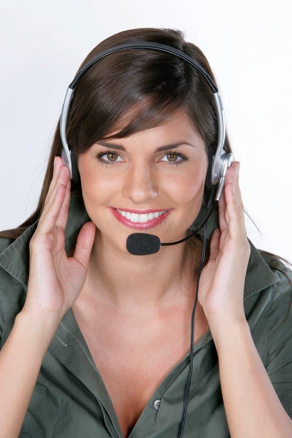 Frauen mit Mikrofon lizenzfreies stockfoto