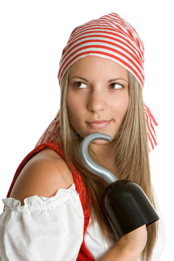 Frauen-Pirat lizenzfreie stockbilder