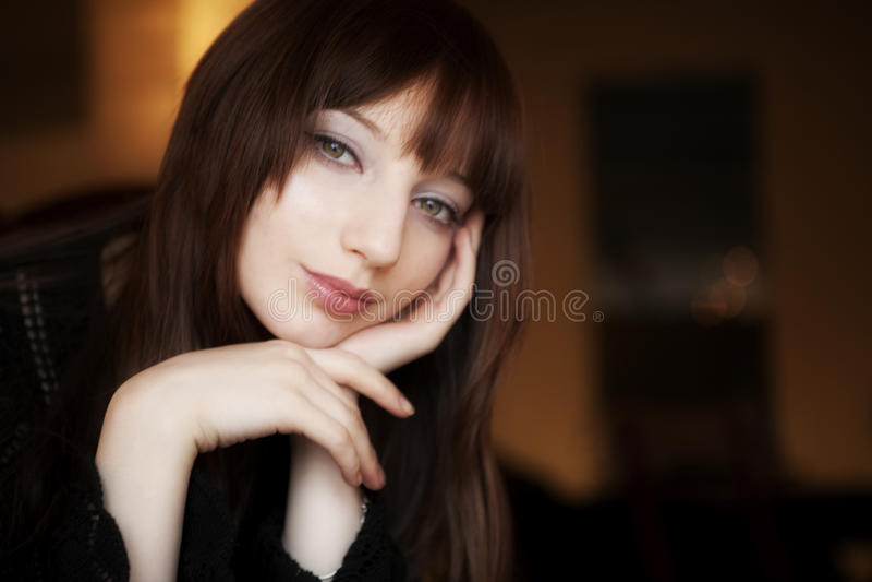 Frauen-Portrait lizenzfreies stockfoto