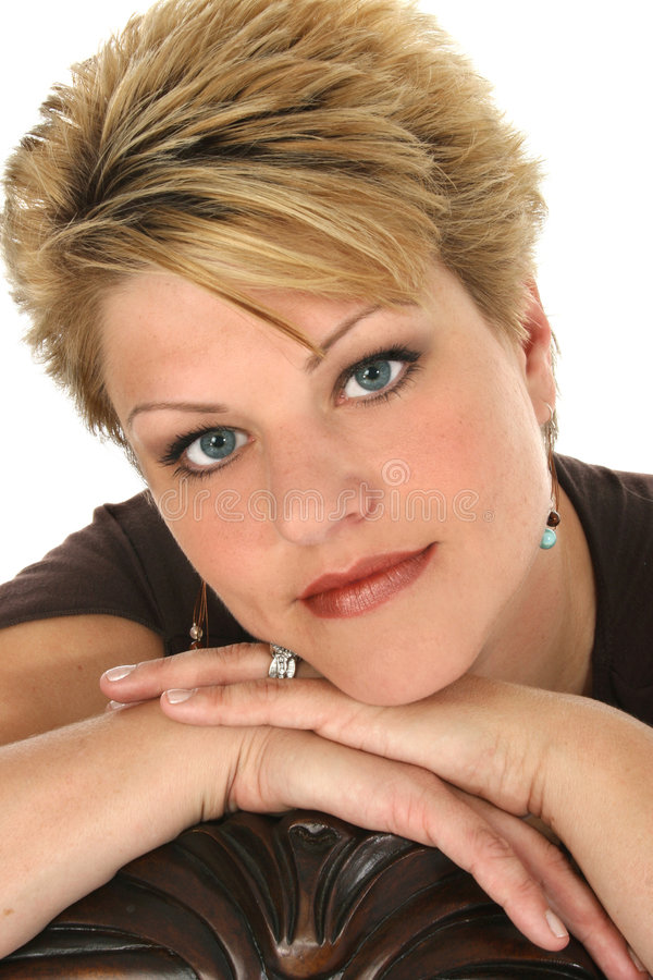 Download Frauen-Portrait stockbild. Bild von thirties, amerikanisch - 865009