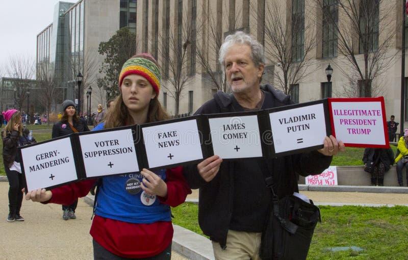 Frauen ` s März auf Washington lizenzfreies stockfoto