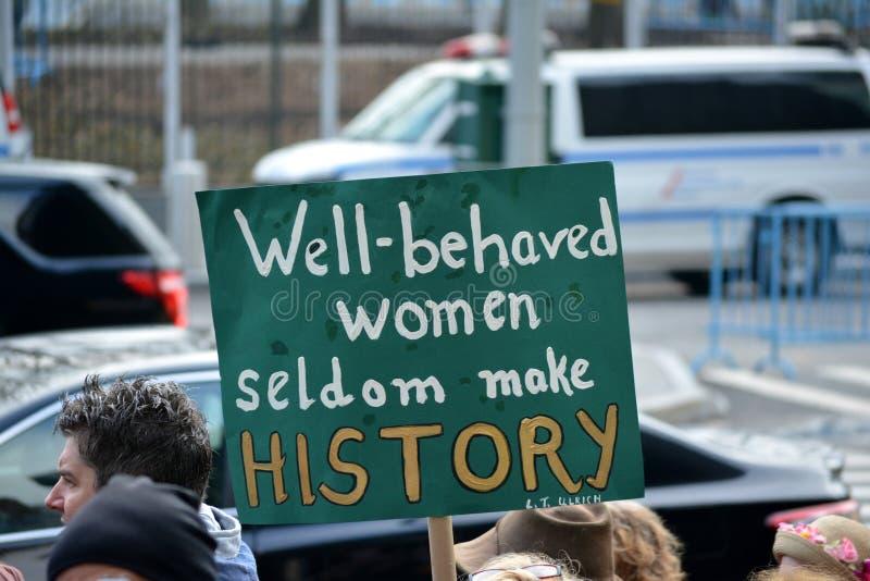 Frauen ` s Marsch lizenzfreies stockfoto