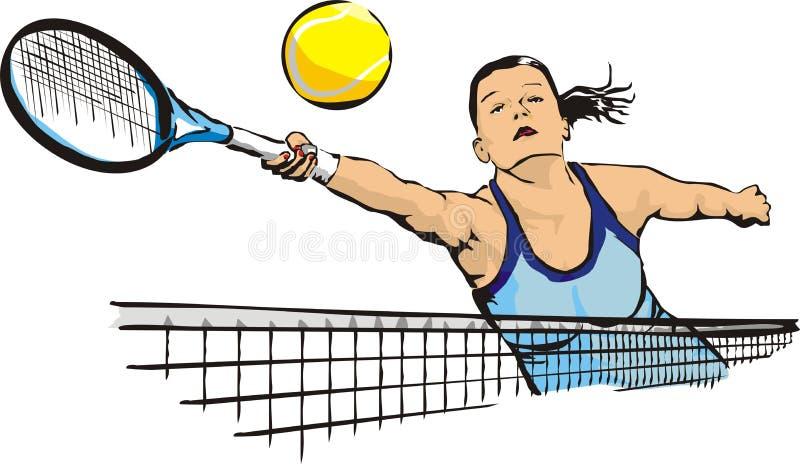 Frauen `s Tennis lizenzfreie abbildung