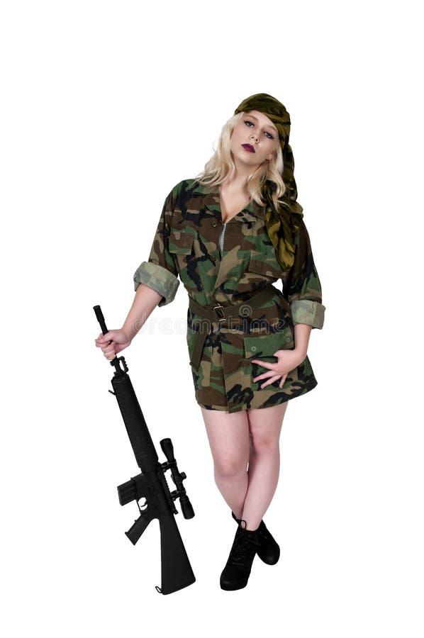 Frauen-Soldat stockfotos