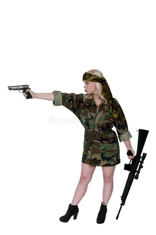 Frauen-Soldat lizenzfreie stockfotografie