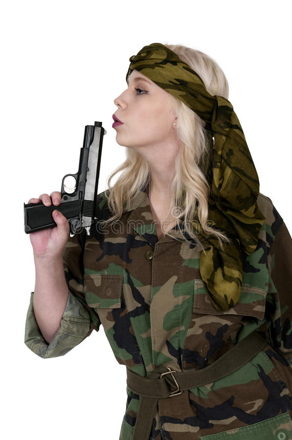 Frauen-Soldat lizenzfreie stockfotos