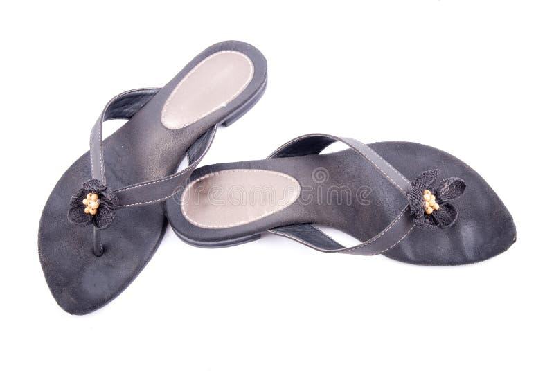 Frauen-Sommer-Schuhe lizenzfreie stockfotografie