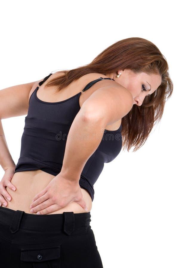 Frauen-spinale Verletzung lizenzfreie stockbilder