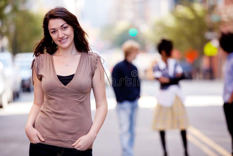 Frauen-Stadt lizenzfreies stockbild