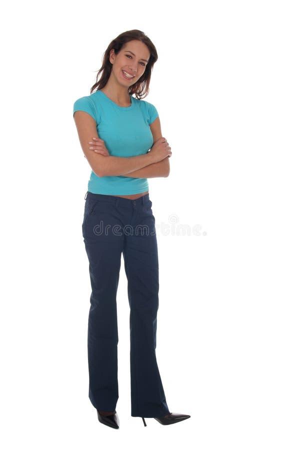 Frauen-Stellung stockbild