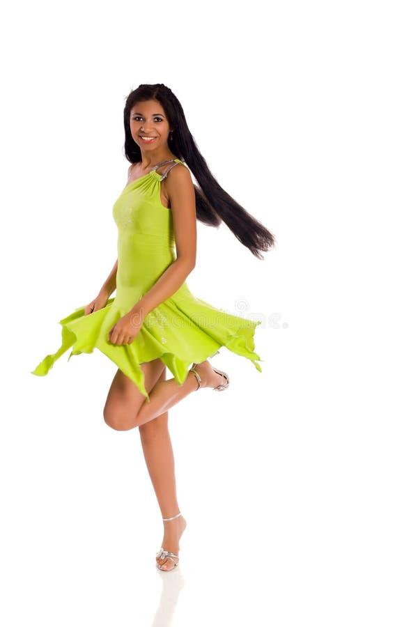 Frauen-Tanzen stockbild