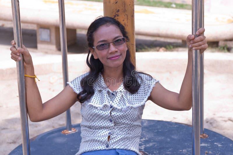 Frauen Thailand in Feiertage. lizenzfreie stockbilder