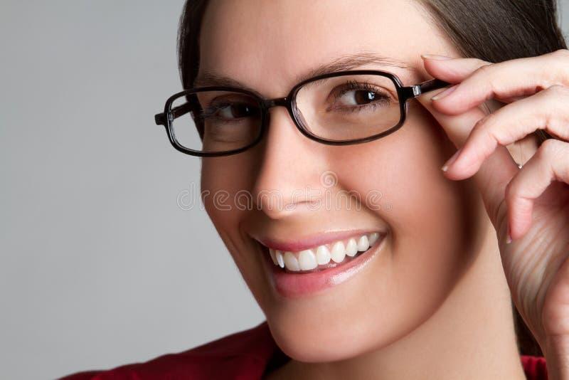 Frauen-tragende Brillen lizenzfreies stockbild