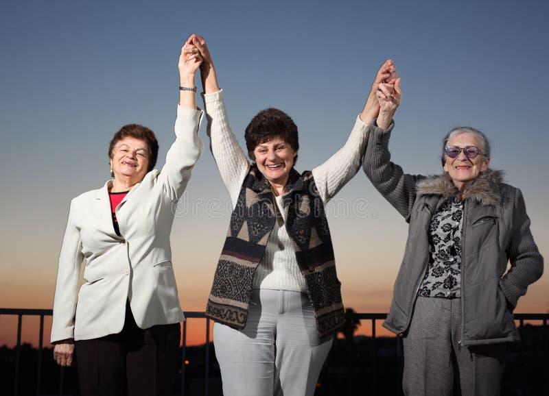 Frauen vereinigt lizenzfreie stockbilder
