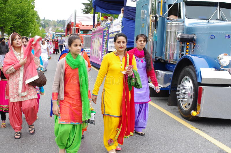 Frauen von Sikhism stockbild