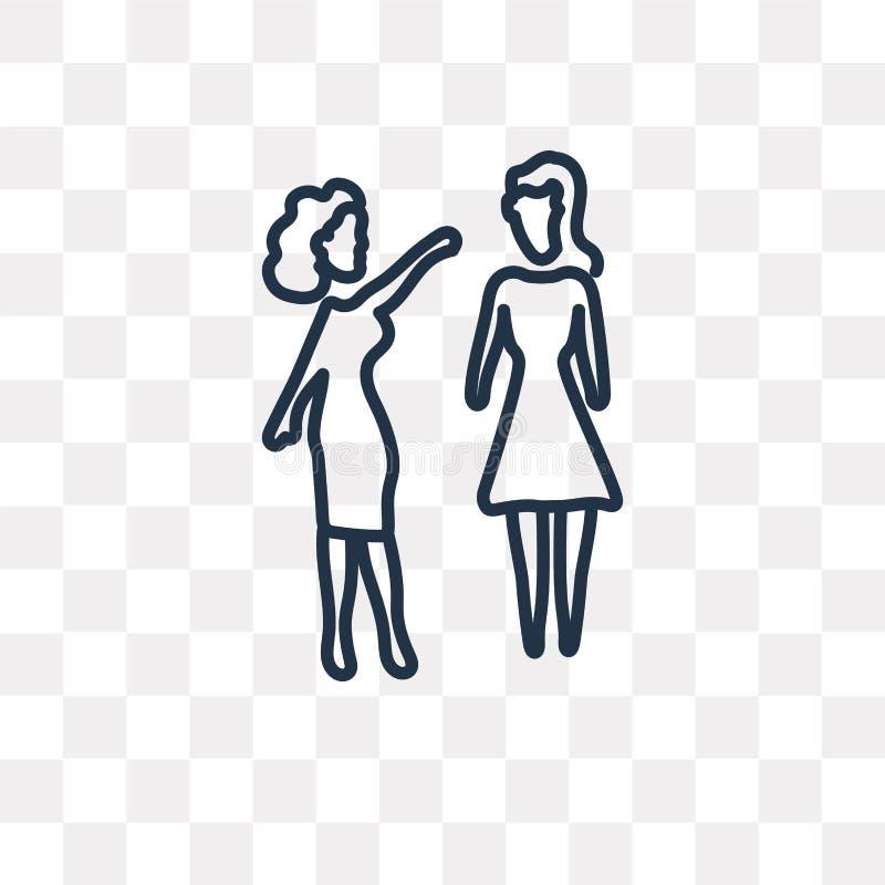Frauen, welche die Vektorikone lokalisiert auf transparentem Hintergrund, Li sprechen vektor abbildung