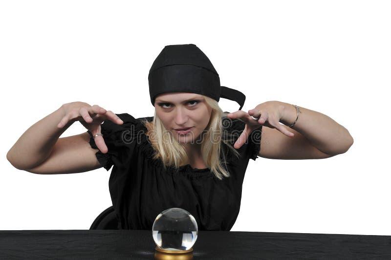 Frauen-Zigeuner-Wahrsager lizenzfreie stockbilder