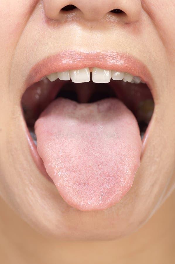 Frauen-Zunge lizenzfreie stockbilder