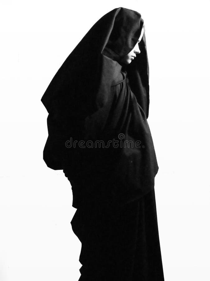Frauenabbildung Beten lizenzfreie stockfotos