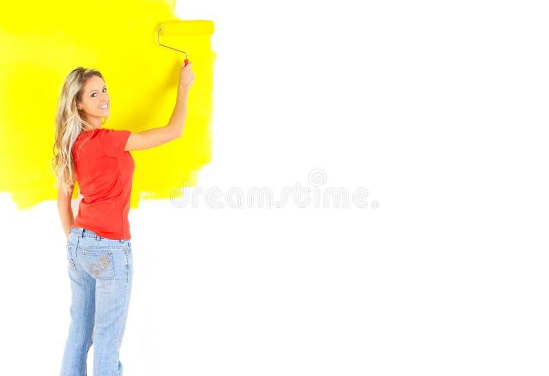 Frauenanstrich lizenzfreie stockfotografie