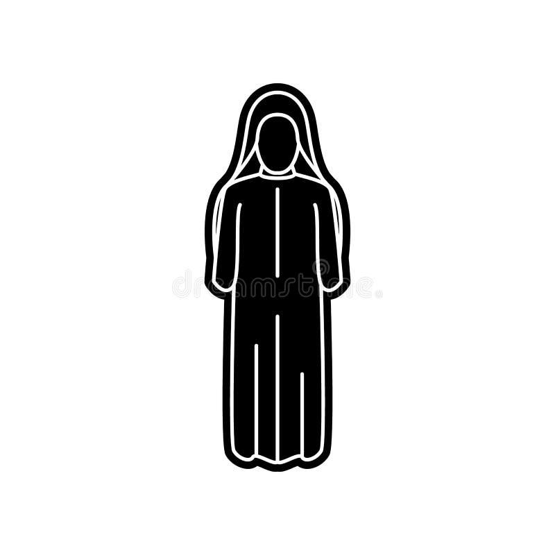 Frauenarabischikone Element von arabischem f?r bewegliches Konzept und Netz Appsikone Glyph, flache Ikone f?r Websiteentwurf und  vektor abbildung
