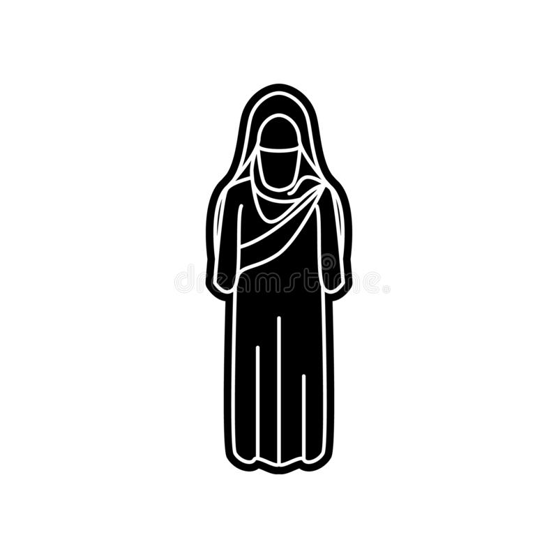 Frauenarabischikone Element von arabischem f?r bewegliches Konzept und Netz Appsikone Glyph, flache Ikone f?r Websiteentwurf und  stock abbildung