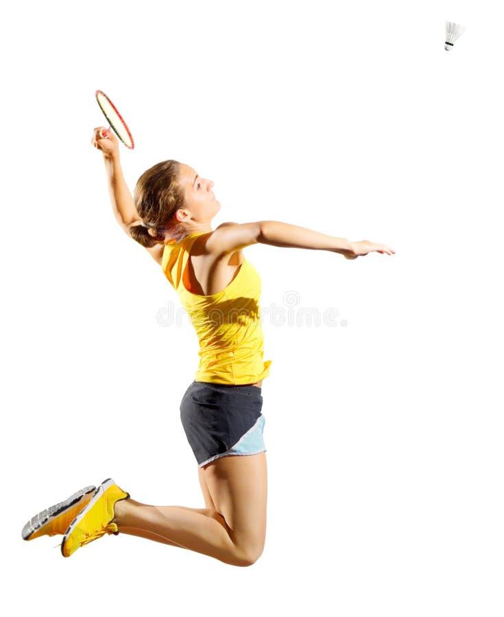 Download Frauenbadminton-Spielerversion Mit Federball Stockfoto - Bild von spiele, hintergrund: 96930776