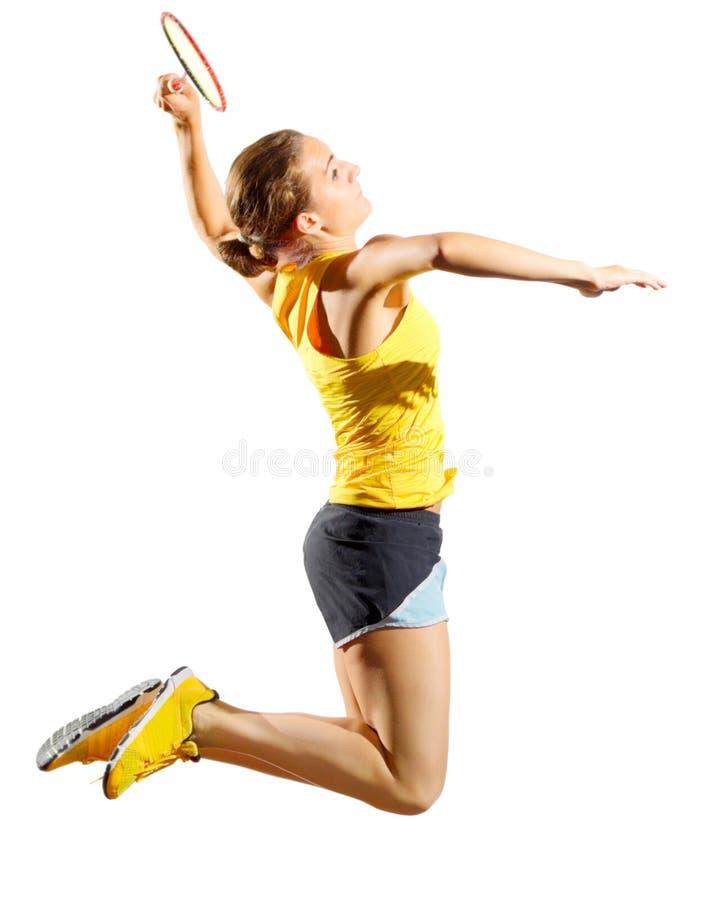 Download Frauenbadminton-Spielerversion Ohne Federball Stockfoto - Bild von badminton, gesund: 96930782