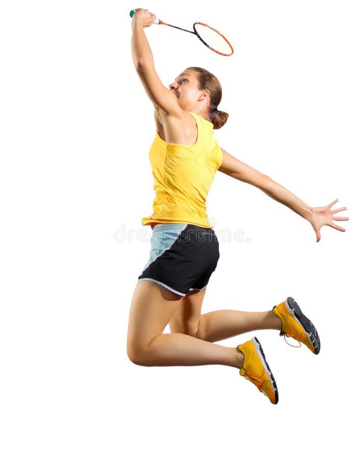 Download Frauenbadminton-Spielerversion Ohne Netz Und Federball Stockbild - Bild von schön, leute: 96931009