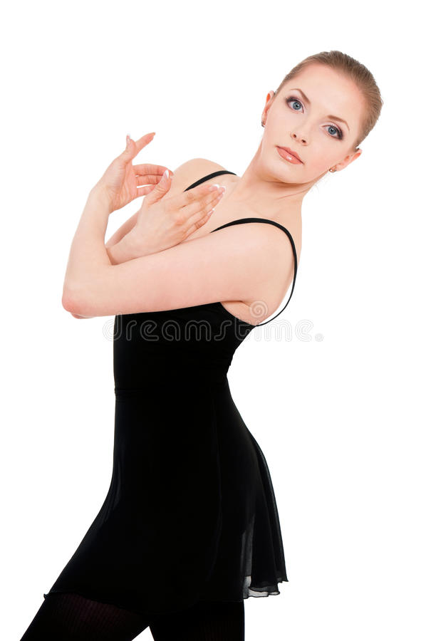 Frauenballerina-Balletttänzer stockbild