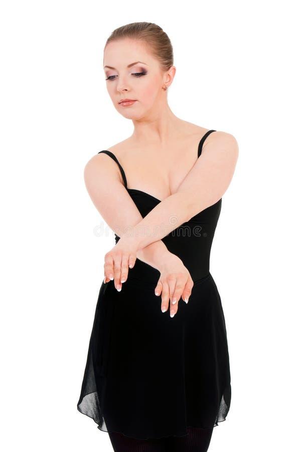 Frauenballerina-Balletttänzer stockfoto