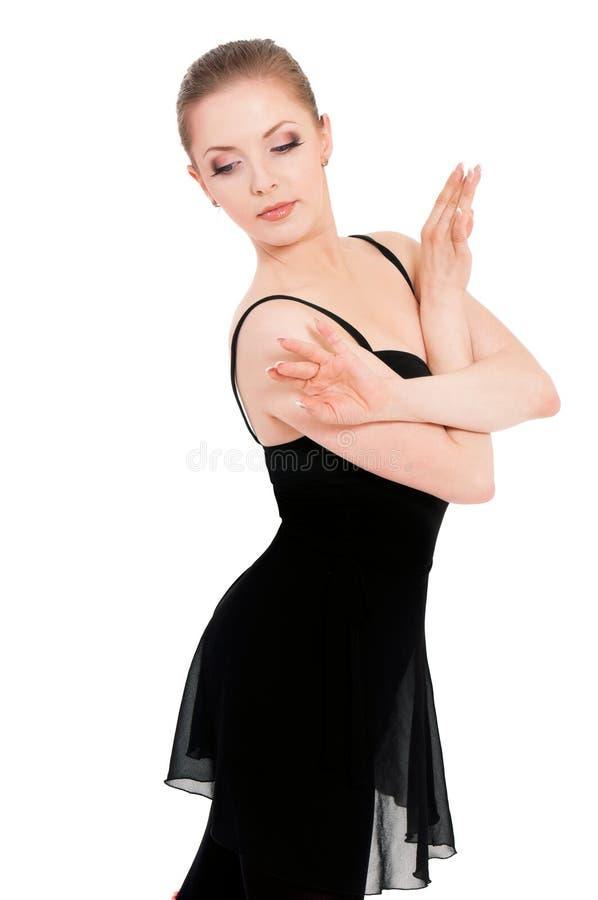 Frauenballerina-Balletttänzer lizenzfreie stockfotos