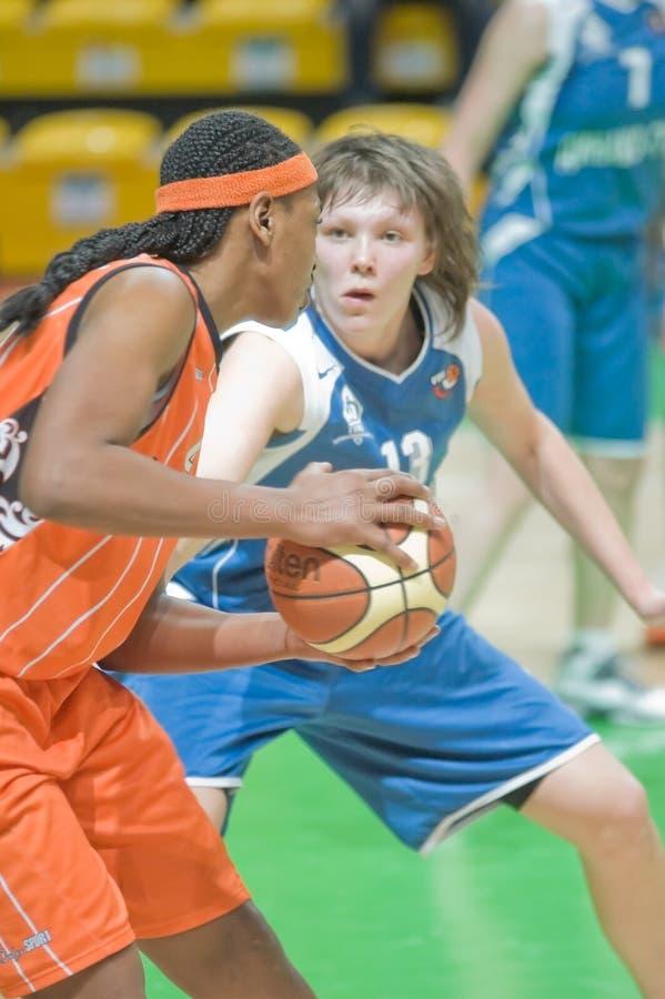 Frauenbasketball stockbilder