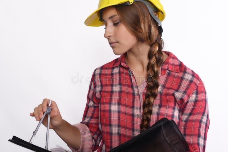 Frauenbauarbeiter stockbilder