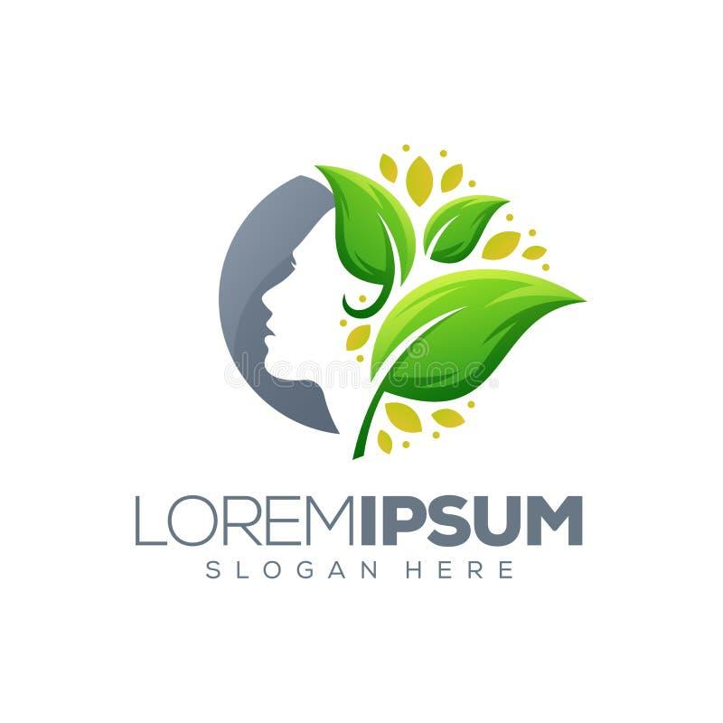 Frauenblatt-Logoentwurf, Illustration lizenzfreie abbildung