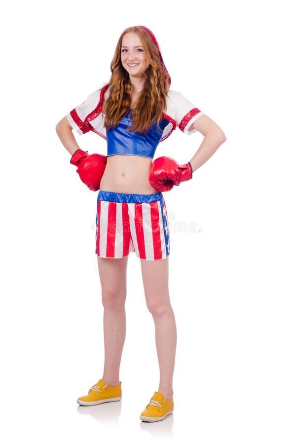 Frauenboxer Stockfotografie