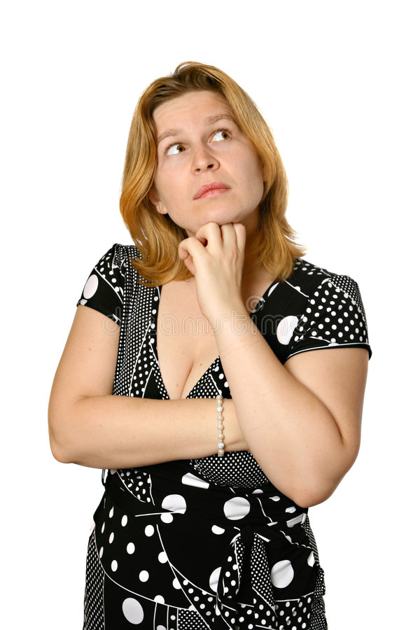 Frauendenken stockfoto