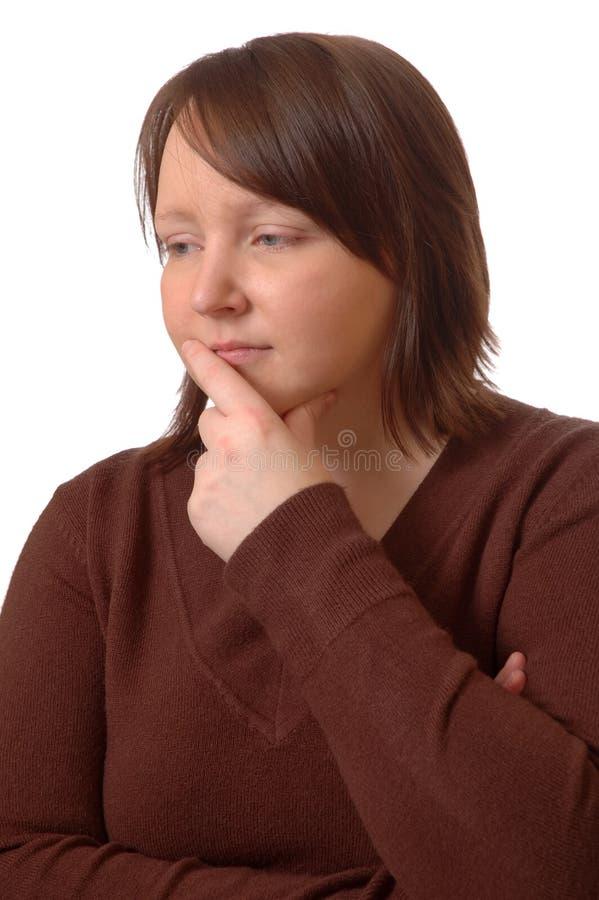 Frauendenken lizenzfreie stockfotos