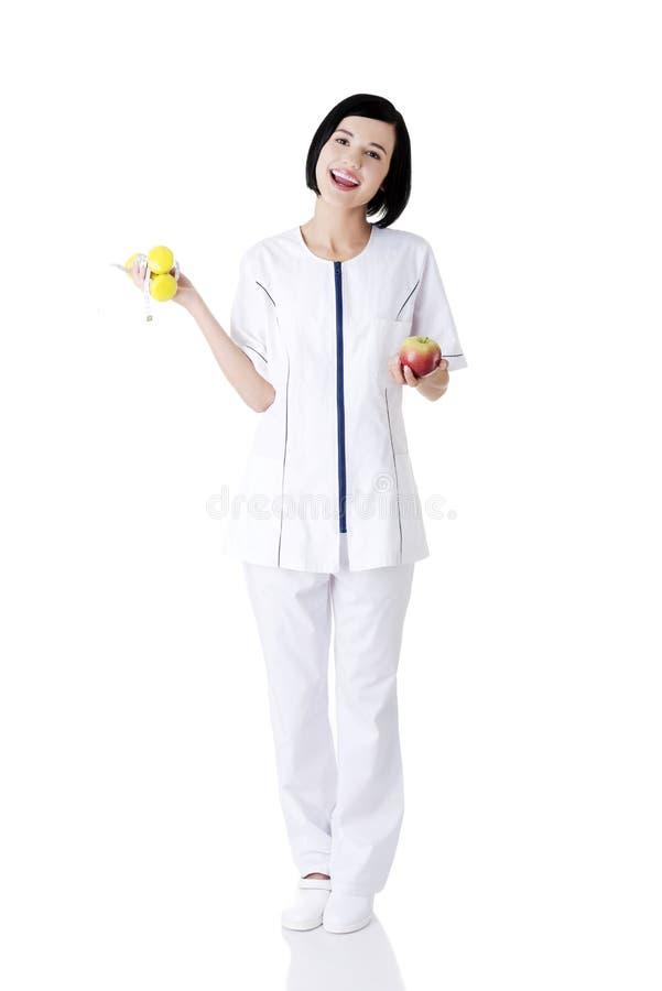Download Frauendiätetiker stockbild. Bild von lächeln, hintergrund - 27729653