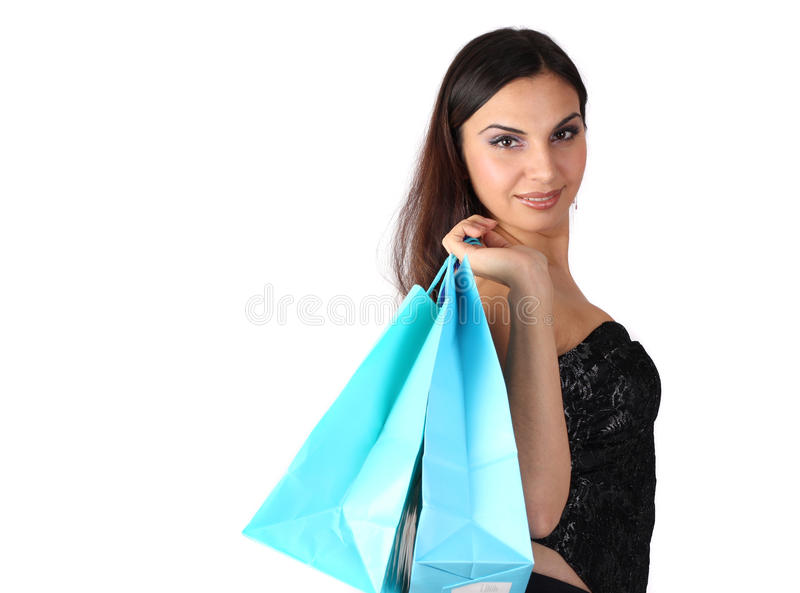 Fraueneinkaufen lizenzfreies stockfoto