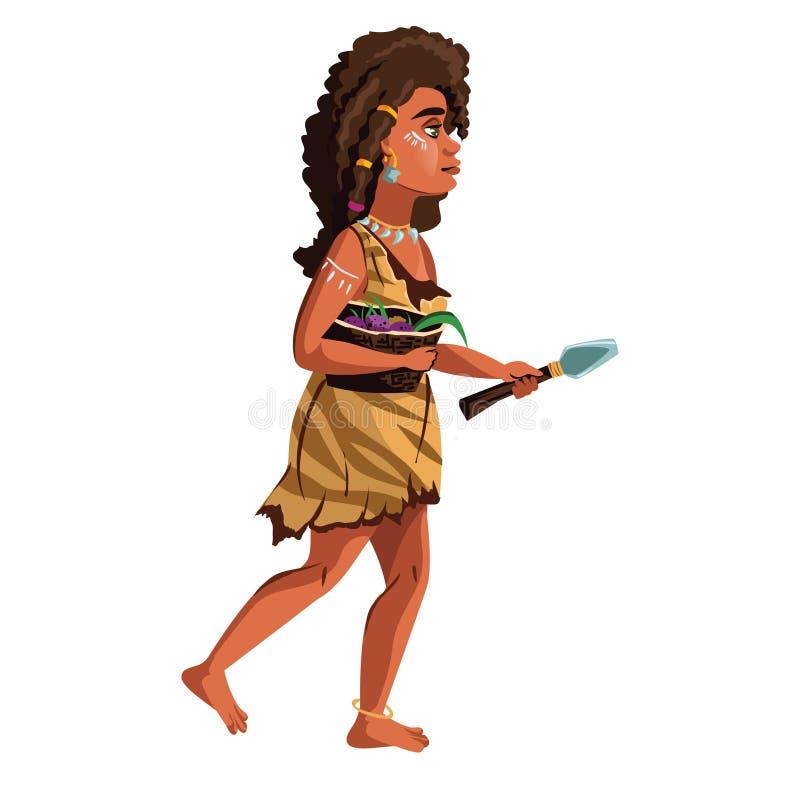 Frauenentwicklungsvektor-Karikaturillustration stock abbildung